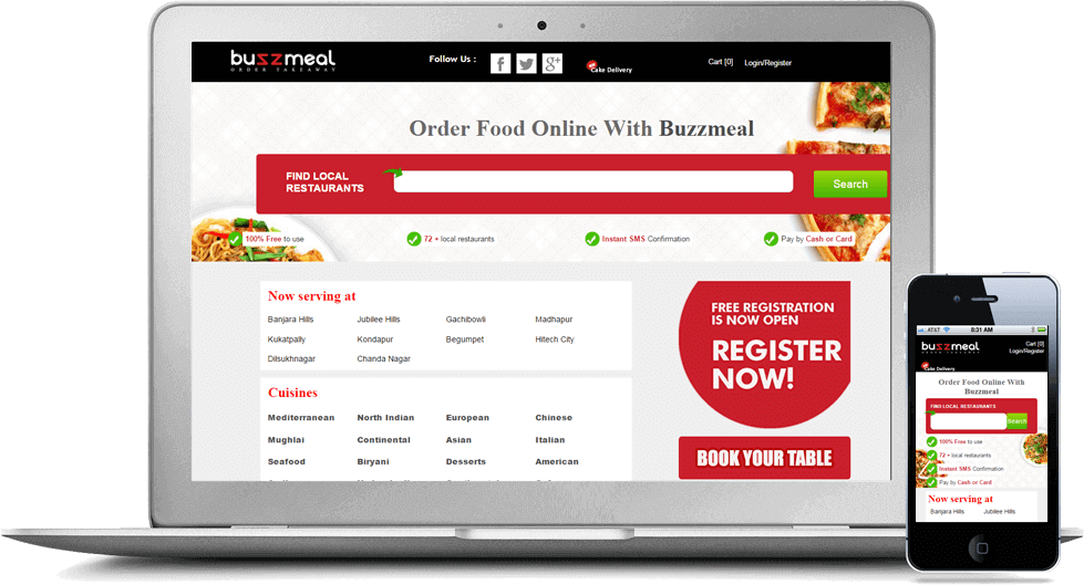 restaurant website menu